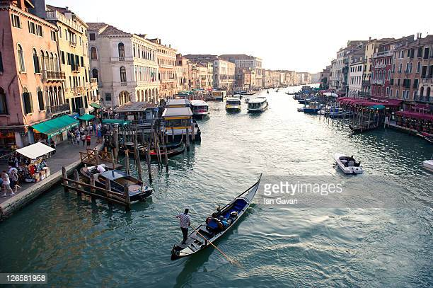 General View from the Ponte De Rialto over the Grand Canal on September 9, 2011 in Venice, Italy.