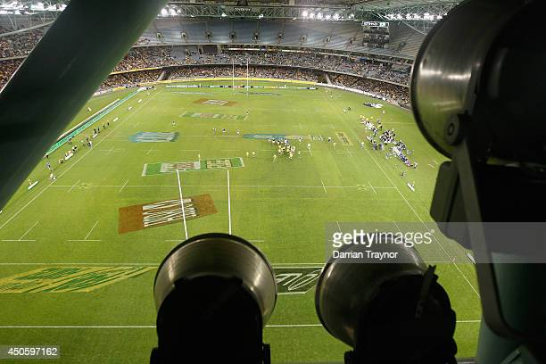 General view from the roof of the second International Test Match between the Australian Wallabies and France at Etihad Stadium on June 14 2014 in...