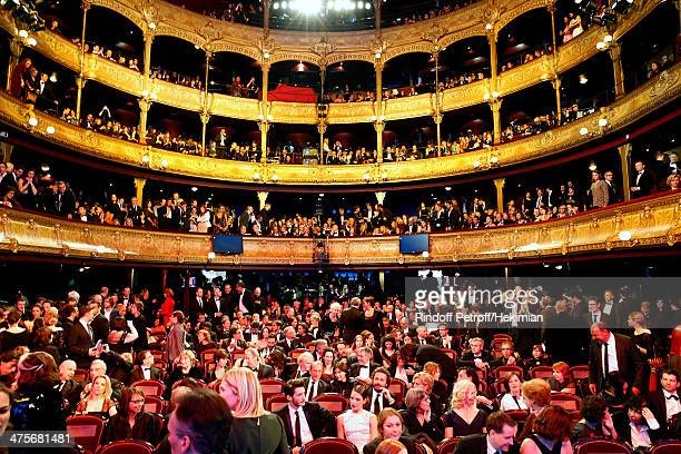 General view from the stage during the 39th Cesar Film Awards 2014 at Theatre du Chatelet on February 28 2014 in Paris France