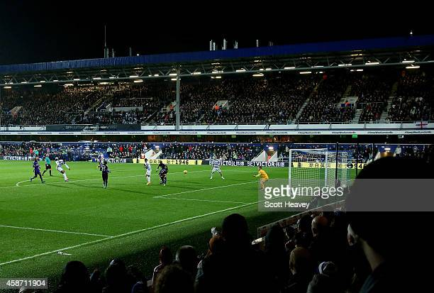 A general view from the stands during the Barclays Premier League match between Queens Park rangers and Manchester City at Loftus Road on November 8...