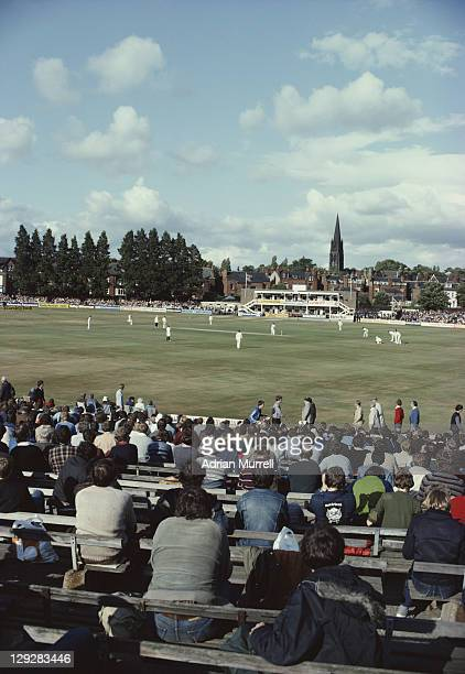 General view from the stands of Australia's 1st innings of the Third Ashes Test between England and Australia on 16th July 1981at the Headingley...