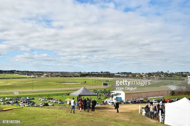 General view from the top of the famous Hill during the Warrnambool Racing Carnival on May 4 2017 in Warrnambool Australia