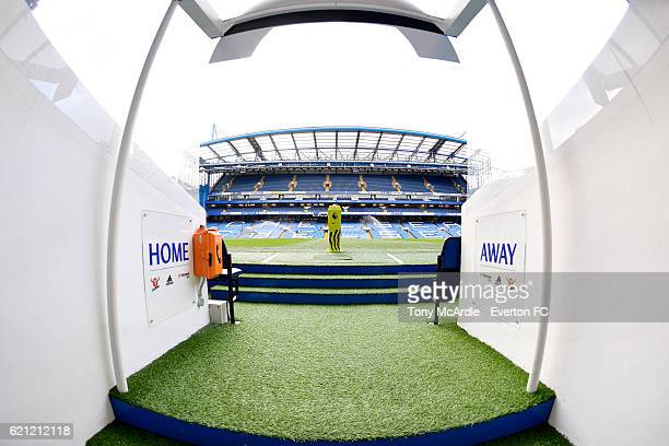 A general view from the tunnel at Stamford Bridge before the Barclays Premier League match between Chelsea v Everton at Stamford Bridge on November 5...