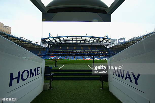 A general view from the tunnel prior to the UEFA Chanmpions League group G match between Chelsea and Maccabi TelAviv FC at Stamford Bridge on...