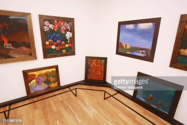"""General view if the exhibition during the preview of the exhibition """"Emil Nolde - Eine deutsche Legende. Der Kuenstler im Nationalsozialismus"""" at..."""