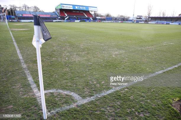 General view if the Mose Rose ground prior to the Sky Bet League Two match between Macclesfield Town and Northampton Town at Moss Rose Ground on...