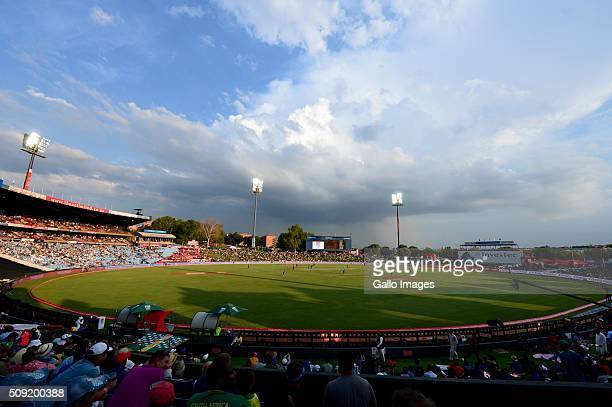 A general view in action during the 3rd Momentum ODI Series match between South Africa and England at SuperSport Park on February 09 2016 in Pretoria...