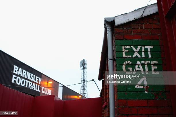 General view in and around the stadium before the Coca-Cola Championship match between Barnsley and Crystal Palace at Oakwell Stadium on March 17,...