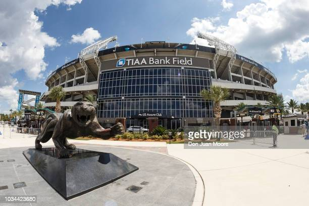 A general view in front of TIAA Bank Field before the Jacksonville Jaguars play the New England Patriots on September 16 2018 in Jacksonville Florida