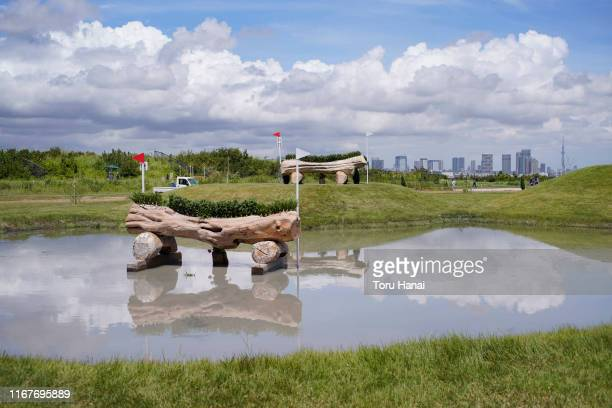 General view in the Cross-Country during day two of the Equestrian Tokyo 2020 Test Event at Sea Forest Cross-Country Course on August 13, 2019 in...