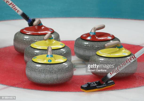 A general view in the Curling Men's Round Robin Session 5 held at Gangneung Curling Centre on February 16 2018 in Gangneung South Korea