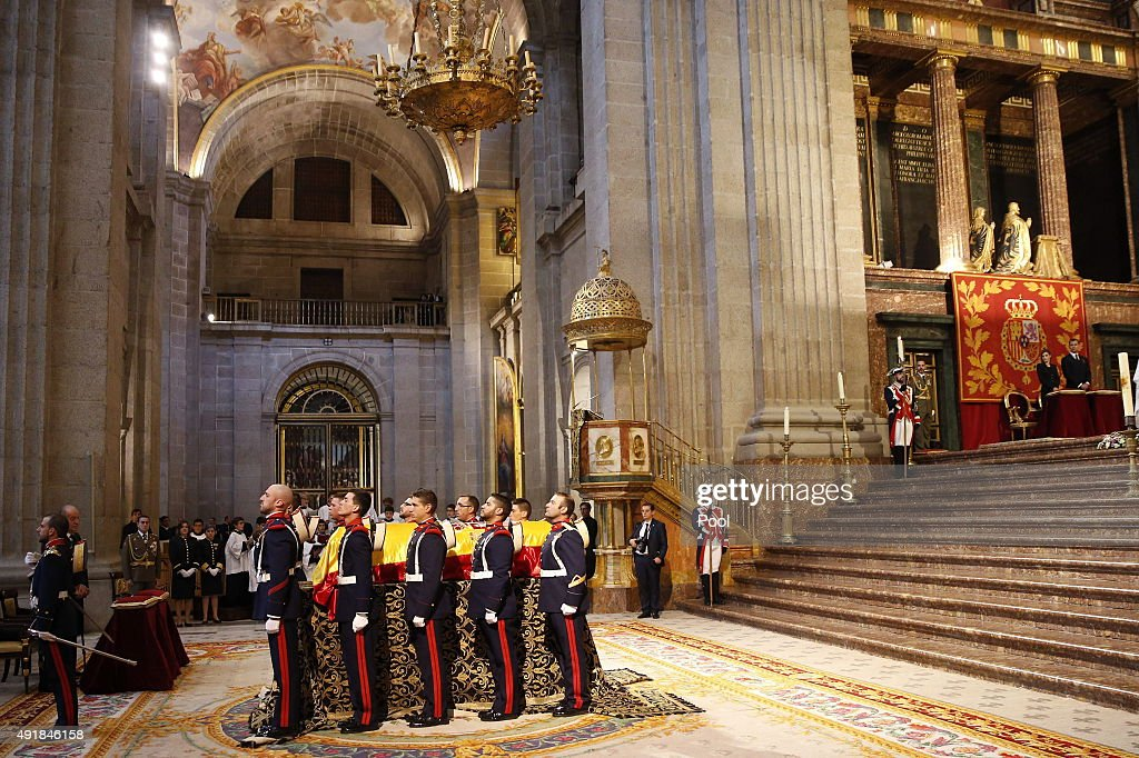Spanish Royals Attend Corpore Insepulto Mass For Carlos de Borbon dos Sicilias : News Photo