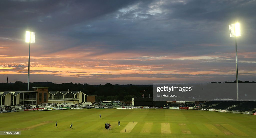 A general view in the final over as Worcestershire win the game by 3 runs during the NatWest T20 Blast match between Durham Jets and Worcestershire Rapids at The Emirates Durham ICG on June 12, 2015 in Chester Le Street, England.