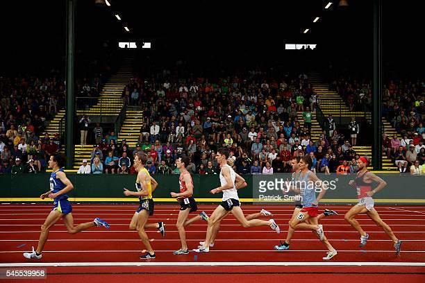 General view in the first round of the Men's 1500 Meter during the 2016 U.S. Olympic Track & Field Team Trials at Hayward Field on July 7, 2016 in...