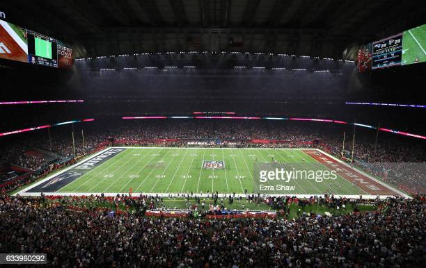 General view in the fourth quarter as the New England Patriots and the Atlanta Falcons are tied 28-28 during Super Bowl 51 at NRG Stadium on February...