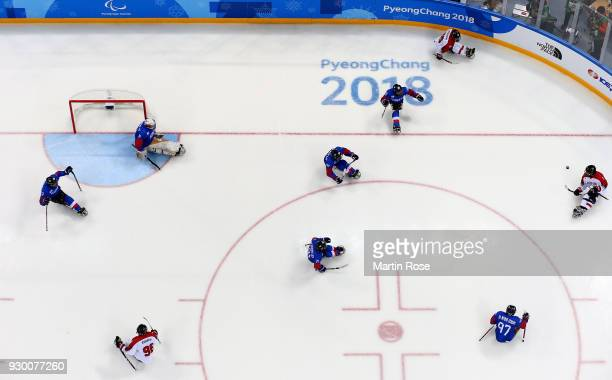 A general view in the Ice Hockey Preliminary Round Group A game between South Korea and Japan during day one of the PyeongChang 2018 Paralympic Games...