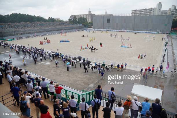 General view in the Jumping during day three of the Equestrian Tokyo 2020 Test Event at the Equestrian Park on August 14, 2019 in Tokyo, Japan.