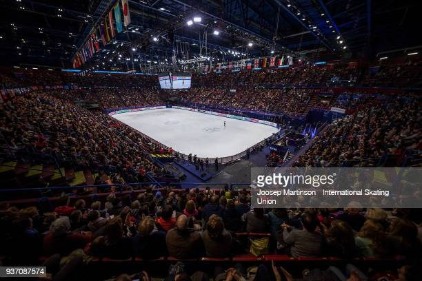A general view in the Ladies Free Skating during day two of the World Figure Skating Championships at Mediolanum Forum on March 23 2018 in Milan Italy