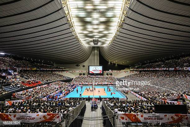General view in the match between Dominican Republic and Japan during the FIVB Women's Volleyball World Cup Japan 2015 at Yoyogi National Stadium on...