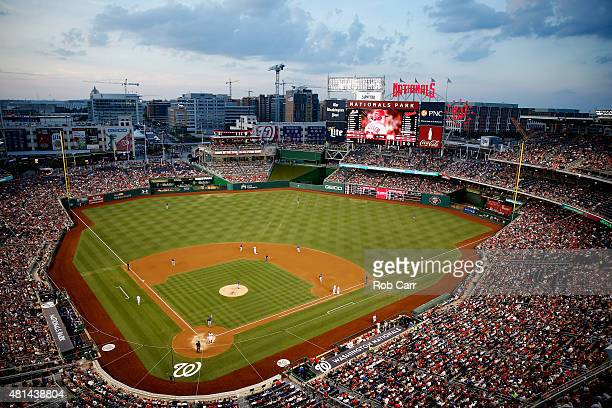 General view in the third inning of the Washington Nationals and New York Mets game at Nationals Park on July 20, 2015 in Washington, DC.