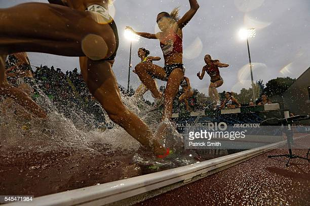 A general view in the Women's 3000 Meter Steeplechase Final during the 2016 US Olympic Track Field Team Trials at Hayward Field on July 7 2016 in...