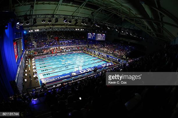 A general view Indiana University Natatorium during day two of the Mutual of Omaha Duel in the Pool on December 12 2015 in Indianapolis Indiana