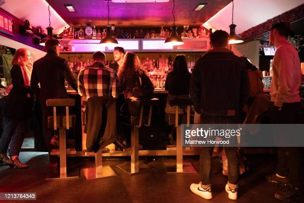 General view inside a Cardiff nightclub on March 20, 2020 in Cardiff, United Kingdom. This afternoon Boris Johnson announced that all pubs,...