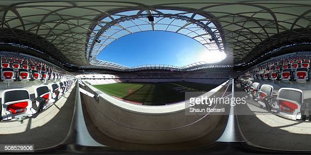 General view inside Allianz Riviera Stadium on February 5, 2016 in Nice, France.