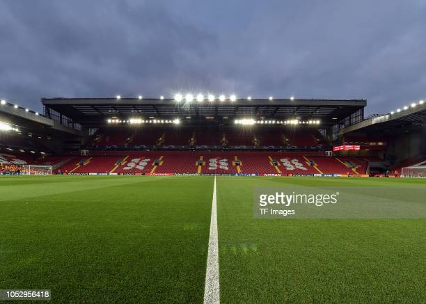 A general view inside Anfield Stadium prior the UEFA Champions League Group C match between Liverpool and FK Crvena Zvezda at Anfield on October 24...