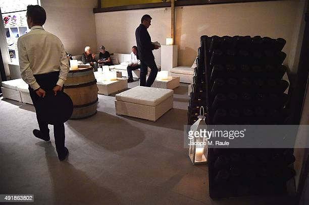 General view inside Borsalino Shop during 'La Vendemmia 2015' The World's Finest Wine Lifestyle Experience on October 8 2015 in Milan Italy