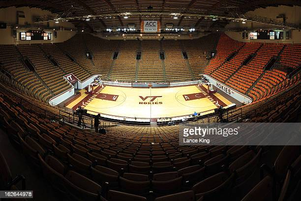 A general view inside Cassell Coliseum prior to a game between the Duke Blue Devils and the Virginia Tech Hokies on February 21 2013 in Blacksburg...