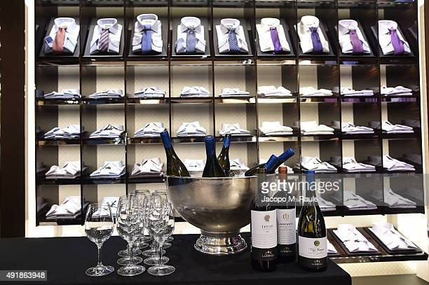 General view inside Corneliani shop during 'La Vendemmia 2015' The World's Finest Wine Lifestyle Experience on October 8 2015 in Milan Italy