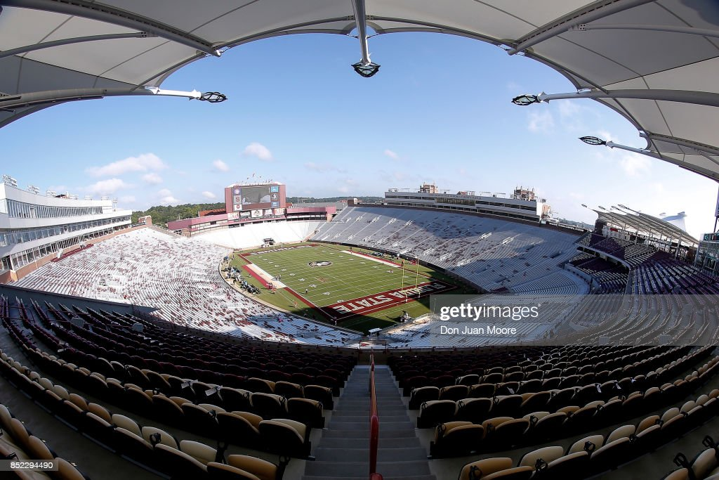 A general view inside Doak Campbell Stadium on Bobby Bowden Field before the Florida State Seminoles host the North Carolina Wolfpack at on September 23, 2017 in Tallahassee, Florida.