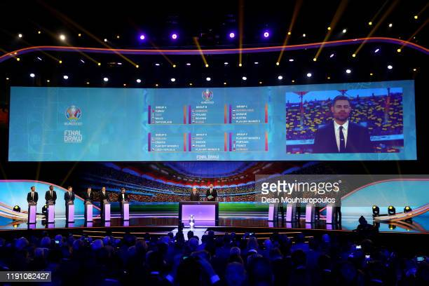 General view inside during the UEFA Euro 2020 Final Draw Ceremony at the Romexpo on November 30, 2019 in Bucharest, Romania.