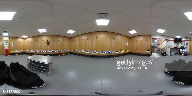 A general view inside FC Basel's dressing room prior to the UEFA Champions League group A match between Manchester United and FC Basel at Old...