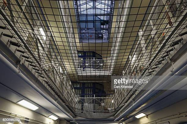 A general view inside HMP Brixton on November 1 2016 in London England Secretary Of State For Justice Liz Truss is to deliver a major policy speech...