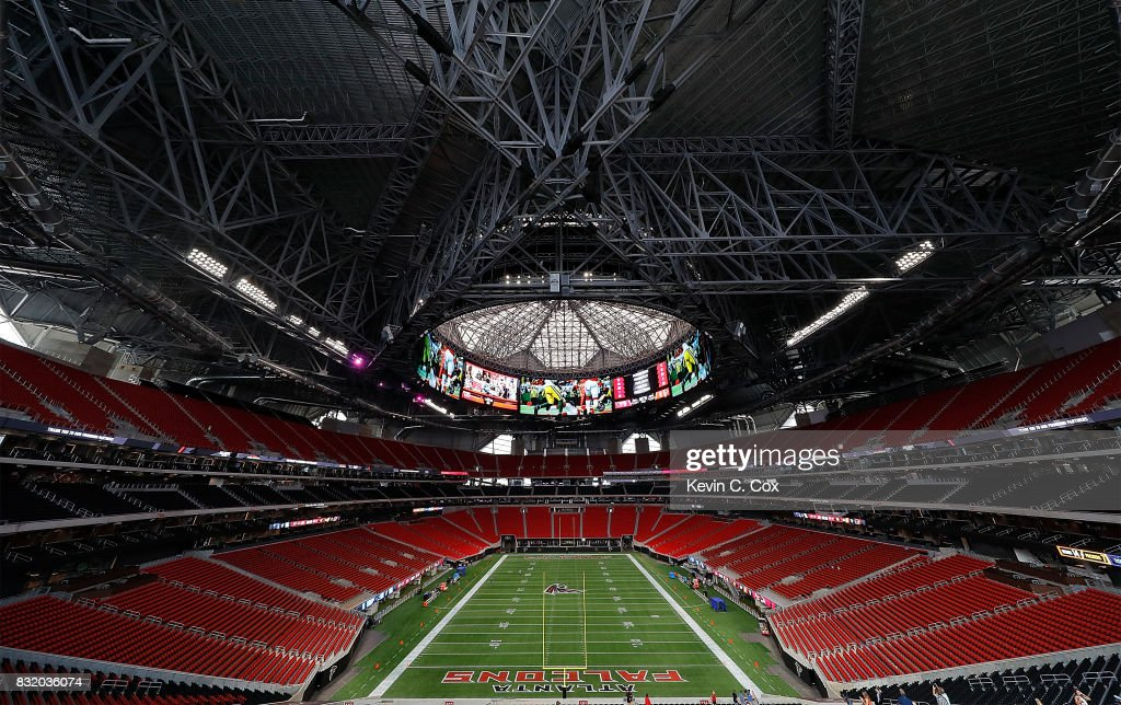 A general view inside Mercedes-Benz Stadium during a
