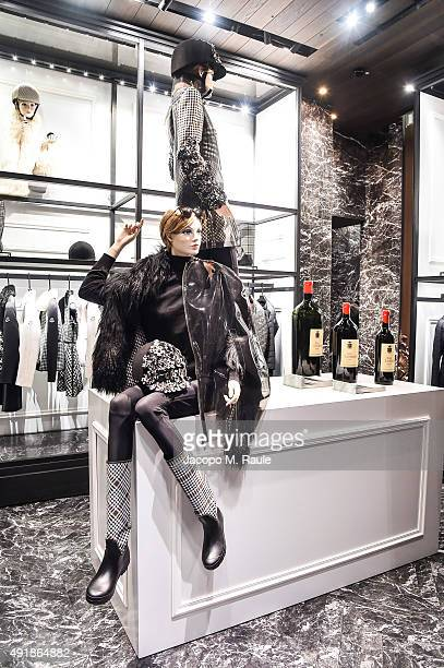 General view inside Moncler Shop during 'La Vendemmia 2015' The World's Finest Wine Lifestyle Experience on October 8 2015 in Milan Italy
