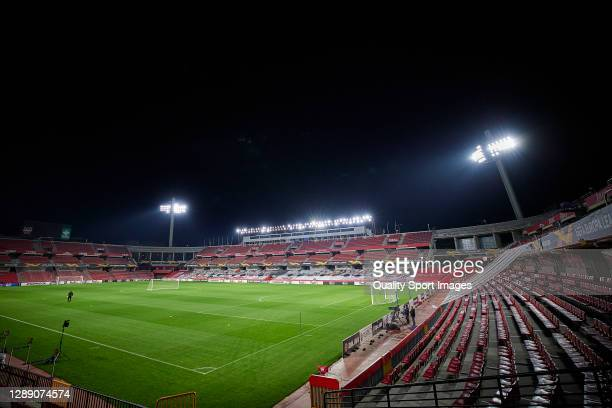 General view inside Nuevo Los Carmenes Stadium prior training session ahead of the UEFA Europa League Group E stage match between PSV Eindhoven and...