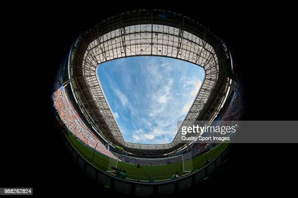 General view inside of Kazan Arena at the 2018 FIFA World Cup Russia Round of 16 match between France and Argentina at Kazan Arena on June 30 2018 in...