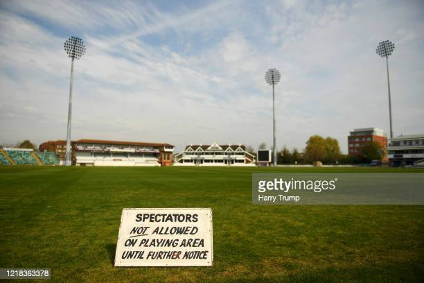 General view inside of the Cooper Associates County Ground. Today was due to be the start of the County Cricket Season, with Somerset at Home to...