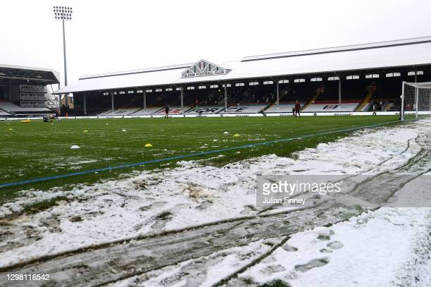 General view inside of the stadium ahead of The Emirates FA Cup Fourth Round match between Fulham and Burnley at Craven Cottage on January 24, 2021...