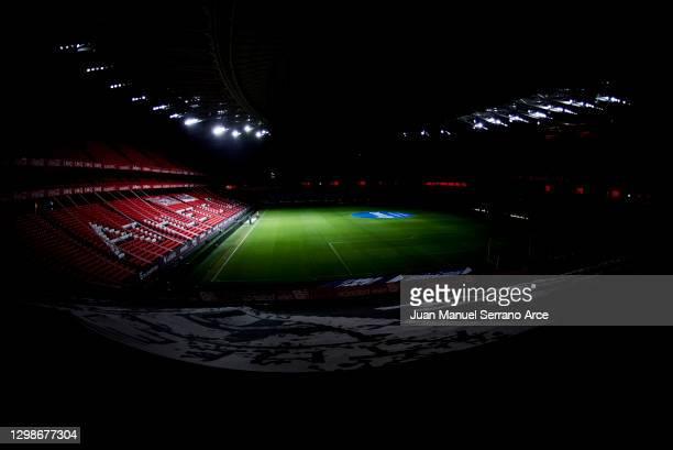 General view inside of the stadium ahead of the La Liga Santander match between Athletic Club and Getafe CF at Estadio de San Mames on January 25,...