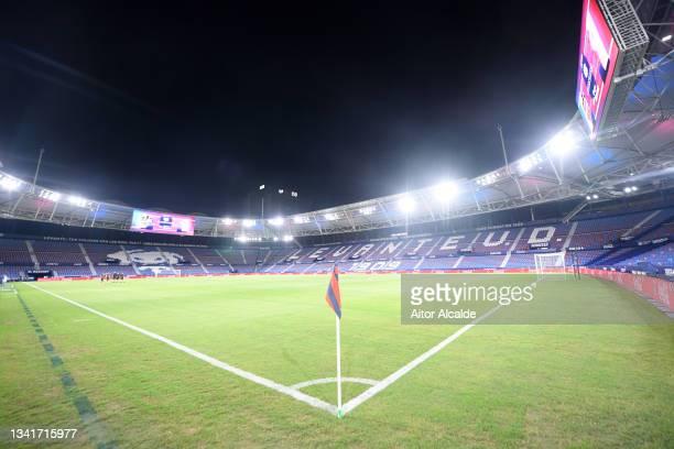General view inside of the stadium ahead of the La Liga Santander match between Levante UD and RC Celta de Vigo at Ciutat de Valencia Stadium on...