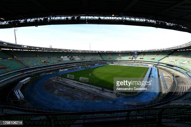 General view inside of the stadium ahead of the Serie A match between Hellas Verona FC and SSC Napoli at Stadio Marcantonio Bentegodi on January 24,...