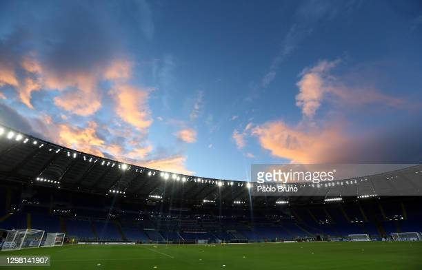 General view inside of the stadium ahead of the Serie A match between SS Lazio and US Sassuolo at Stadio Olimpico on January 24, 2021 in Rome, Italy....