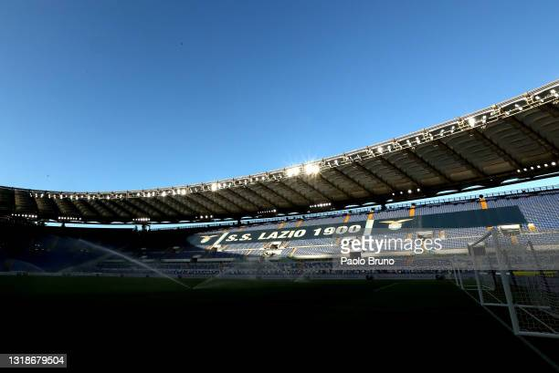 General view inside of the stadium ahead of the Serie A match between SS Lazio and Torino FC at Stadio Olimpico on May 18, 2021 in Rome, Italy....