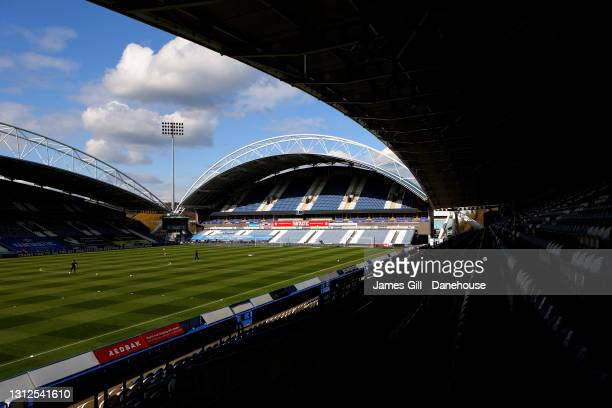 General view inside of the stadium ahead of the Sky Bet Championship match between Huddersfield Town and AFC Bournemouth at John Smith's Stadium on...
