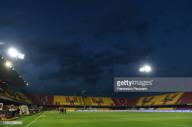 General view inside of the stadium during the Serie A match between Benevento Calcio and AC Milan at Stadio Ciro Vigorito on January 03, 2021 in...
