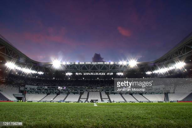 General view inside of the stadium prior to the Serie A match between Juventus and Atalanta BC at Allianz Stadium on December 16, 2020 in Turin,...